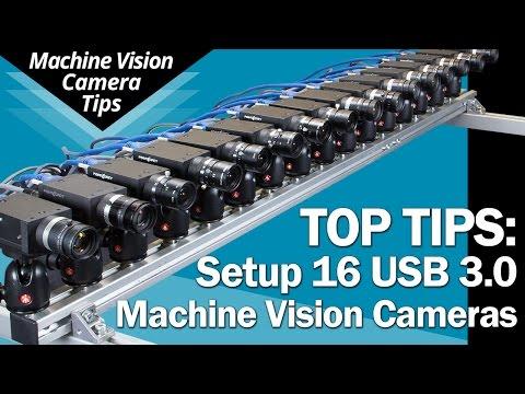 Setup 16 USB 3.0 Cameras: Tips for bandwidth, power & triggering