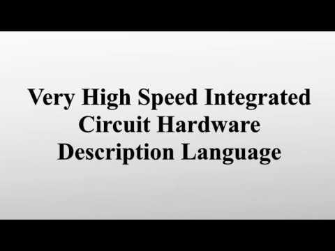 Very High Speed Integrated Circuit Hardware Description Language