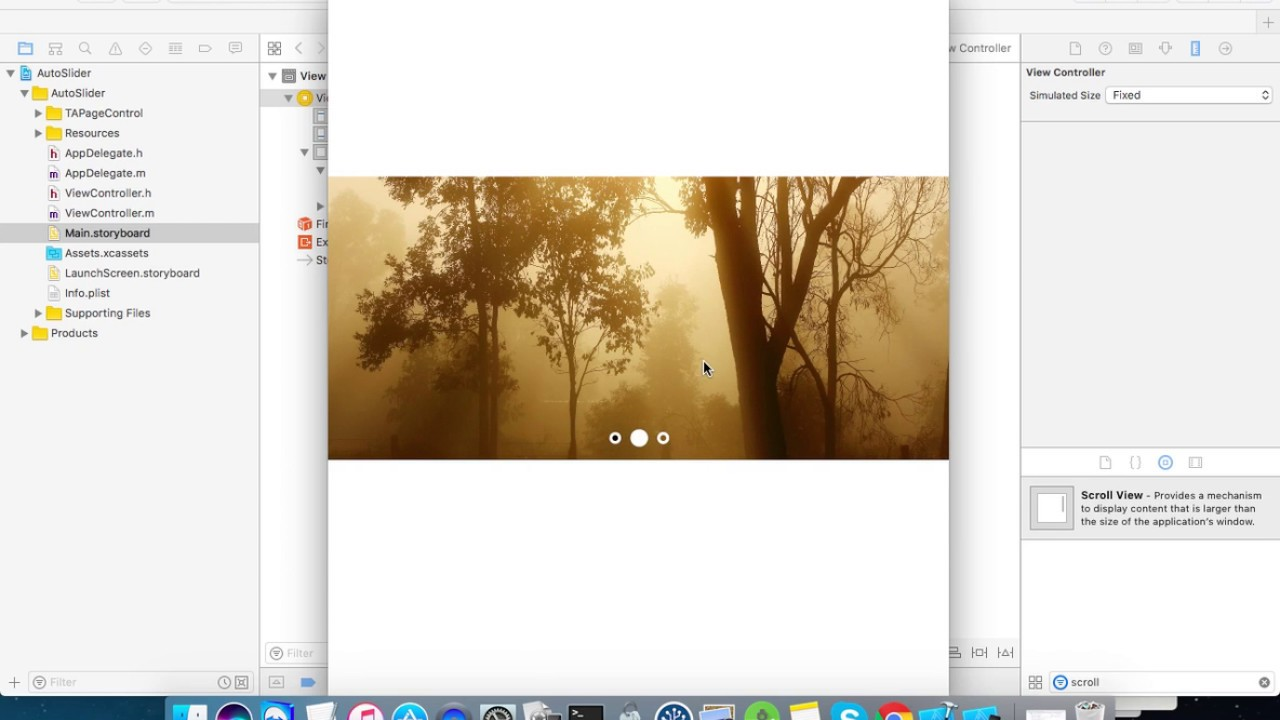 Page Control Auto Image Slider in Objective-C