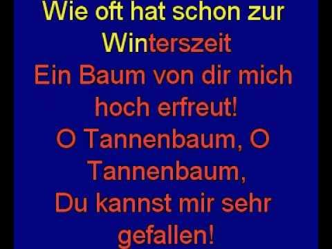 O Tannenbaum Karaoke.O Tannenbaum