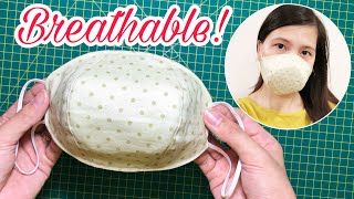 More space to breathe Face Mask Sewing Tutorial Making a face mask at home DIY Fabric Mask