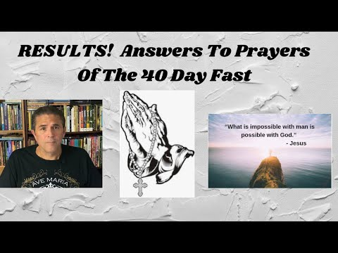 RESULTS: Answers to Prayers From The 40 Day Fast | 2 Corinthians 5:15
