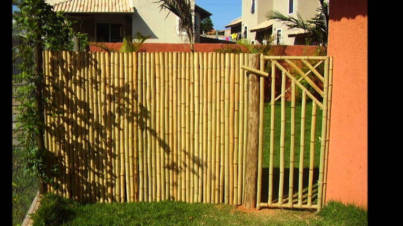 Cerca Em Bambu – YouTube~ Cerca Para Jardim Barata