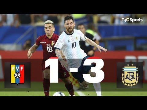 Venezuela 1-3 Argentina   Eliminatorias a Qatar 2022 - Fecha 9 - YouTube