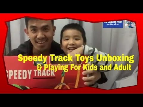 Unboxing And Playing Fast Lane  Speedy Track  Toy Video For Kids And Adult