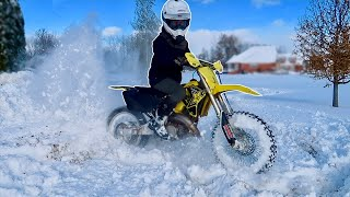 RM125 TWO STROKE WIDE OPEN SNOW RIPPING