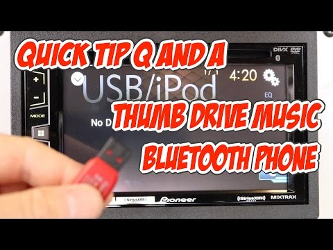 Can I do music from a thumb drive, bluetooth audio, and bluetooth calling on my Pioneer AVH radio