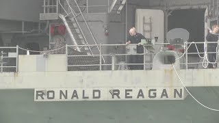 USS Ronald Reagan Arrives In South Korea Amid Growing Tensions With North