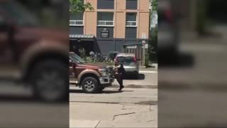 Cell phone video shows Parkdale rent protester nearly ploughed down