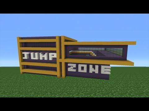 Minecraft Tutorial: How To Make A Trampoline Park Part 1/2