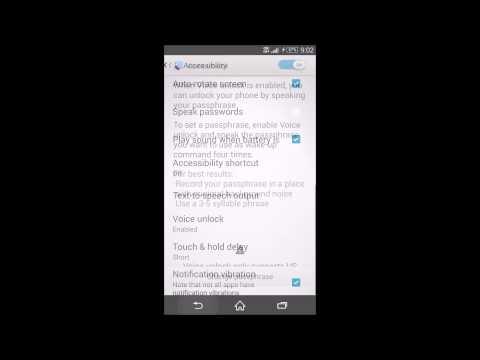 Sony Xperia Z3 Voice Unlock