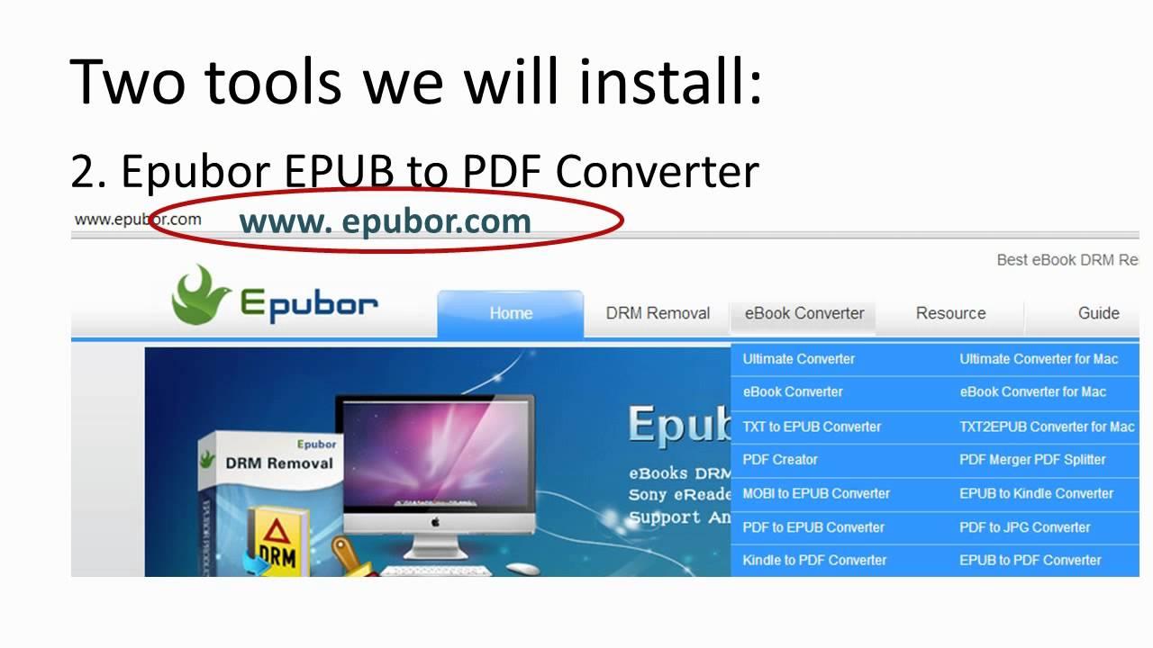 Convert EPUB to PDF with Epubor EPUB to PDF Converter