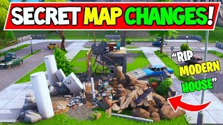 "*NEW* FORTNITE SECRET MAP CHANGES ""Pleasant Park House Destroyed"" Season 9 Storyline"