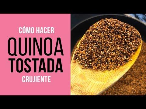 Cómo hacer Quinoa Tostada Crujiente - Tostar Quinua
