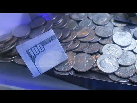 WON $100 BILL ON THE EDGE!!!  Coin Pusher Arcade Games  JOYSTICK