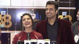 Aditi Sharma With Her Husband Sarwar Ahuja At Indian Telly Awards 2018