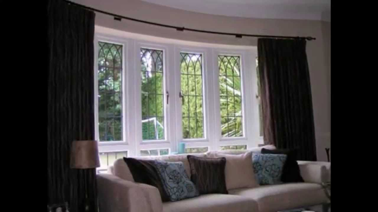 Bay Window Curtain Rods By Colormehouse Com Youtube