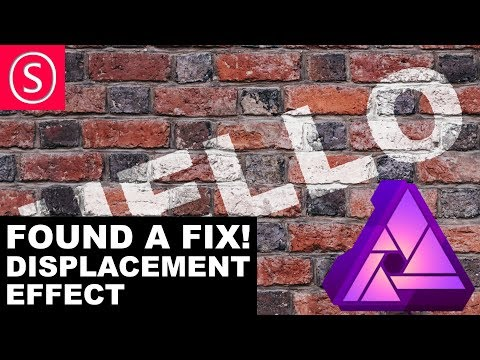 Affinity Photo: Displacement Effect FIXED - You need to see