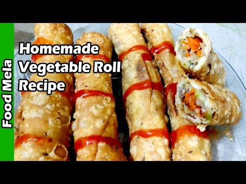 Homemade Vegetable Roll Recipe | Chicken Vegetable Roll Recipe In Urdu | Vegetable Roll Recipe