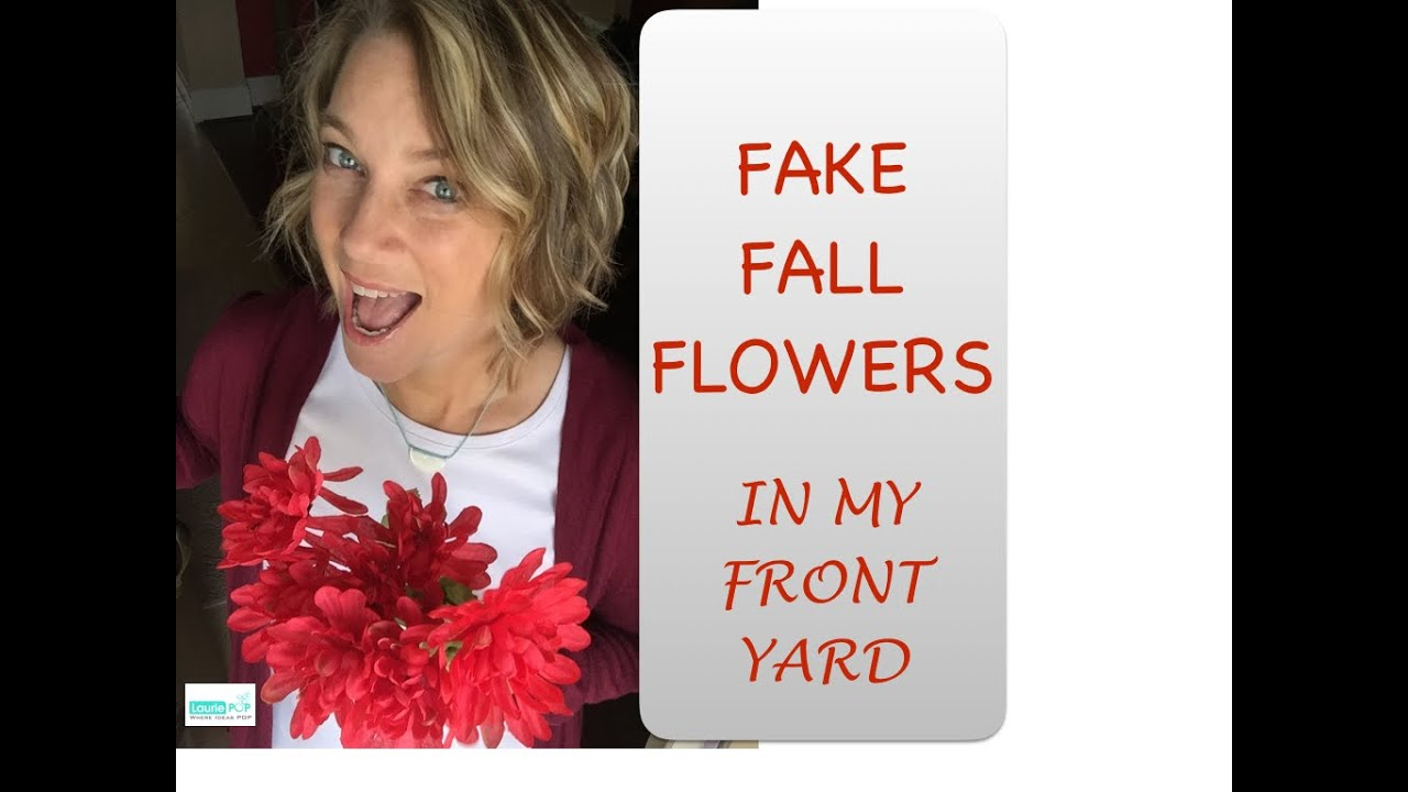 fake fall flowers in