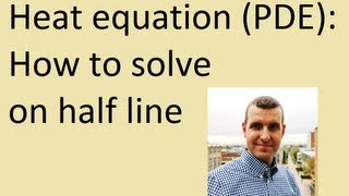How to solve heat equation on half line