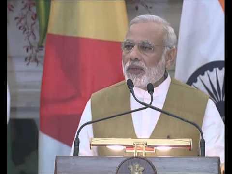 PM Modi's address at Joint Press Statement with President of Seychelles, Mr J.A Michel