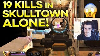 RANK #1 PLAYER DROPS 19 KILLS IN SKULLTOWN ALONE!! 😱 ☠☠☠ APEX LEGENDS