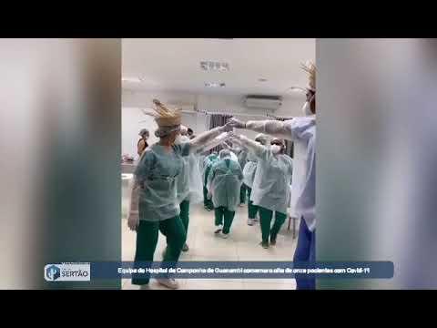 Equipe do Hospital de Campanha de Guanambi comemora alta de onze pacientes com Covid-19