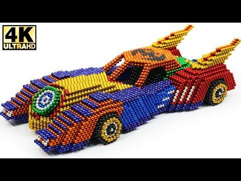 DIY - How To Make Batmobile from Magnetic Balls (ASMR) | Magnetic Man 4K