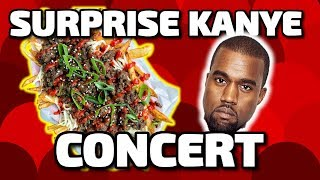 Surprise Kanye West concert  Story Thyme