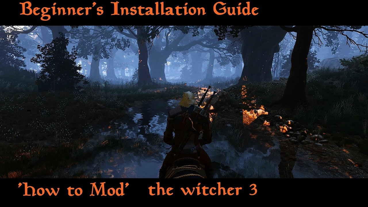 The Witcher 3: How to install mods | slow Beginner's installation Guide #1