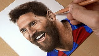 HOW I DRAW MESSI WITH COLOR PENCILS