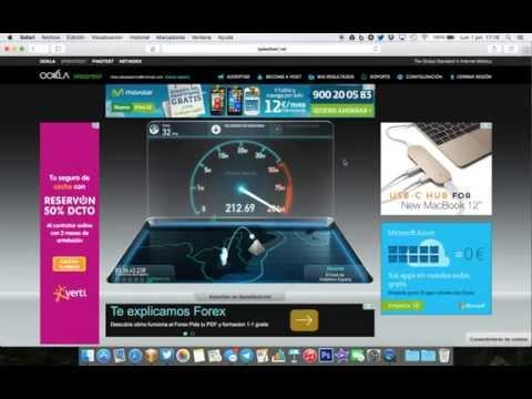 test velicidad 300 mb movistar con wifi en time capsule
