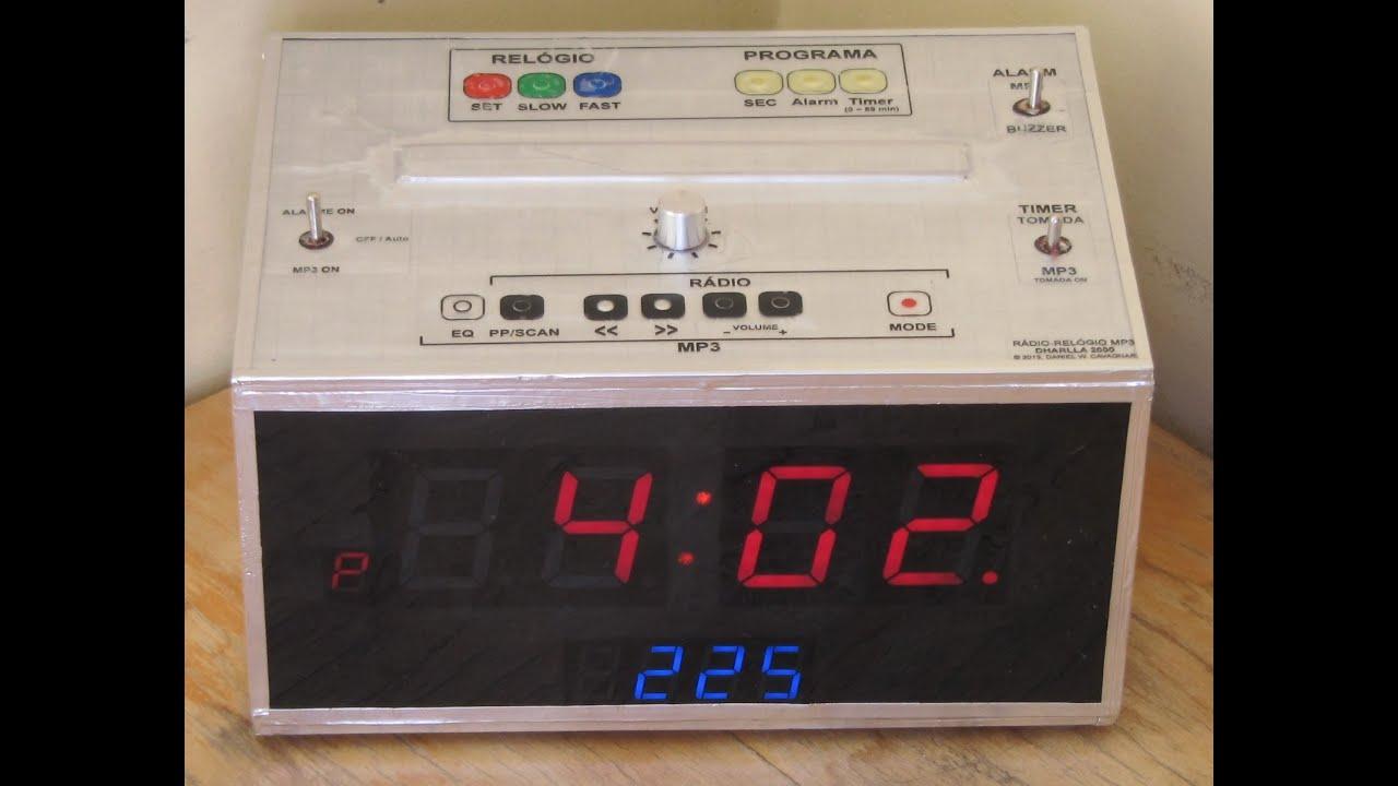 Alarm Clock Fm Mp3 Timer Quartz Homemade Youtube