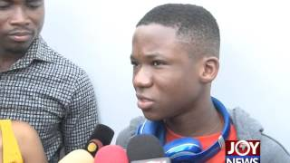 Abraham Attah arrives in Ghana