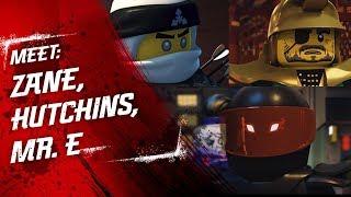 Meet Hutchins, Zane and Mr. E - LEGO NINJAGO - Character Video