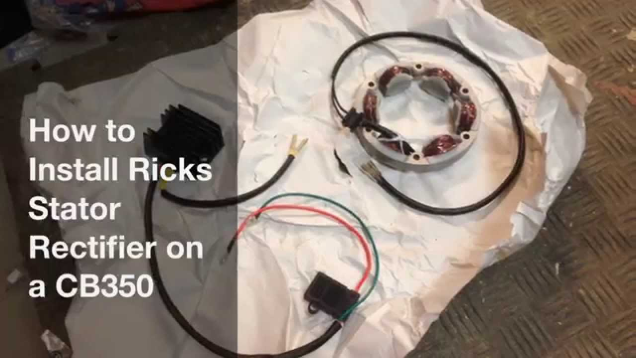 How to install ricks electrics stator recreg on a cb350 youtube swarovskicordoba Choice Image