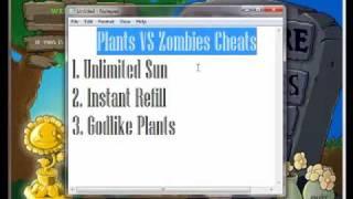 Plants VS Zombies Cheats: Unlimited Sun/Instant Refill/Godlike Plants