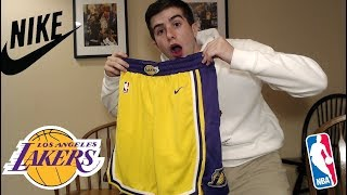 LAKERS NIKE SWINGMAN SHORTS REVIEW!! WITH POCKETS!!