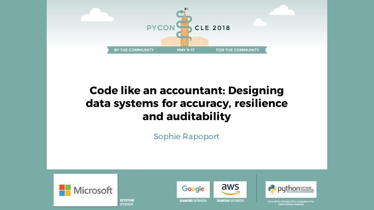 Image from Code like an accountant: Designing data systems for accuracy, resilience and auditability