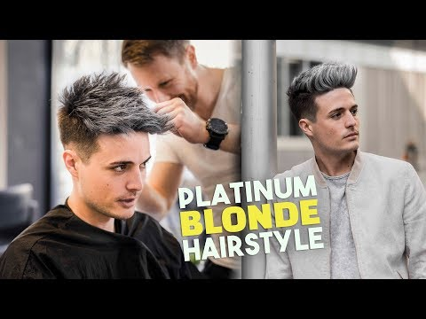 Platinum Blonde Hair TRANSFORMATION | Men's Hairstyle Tutorial | BluMaan 2018