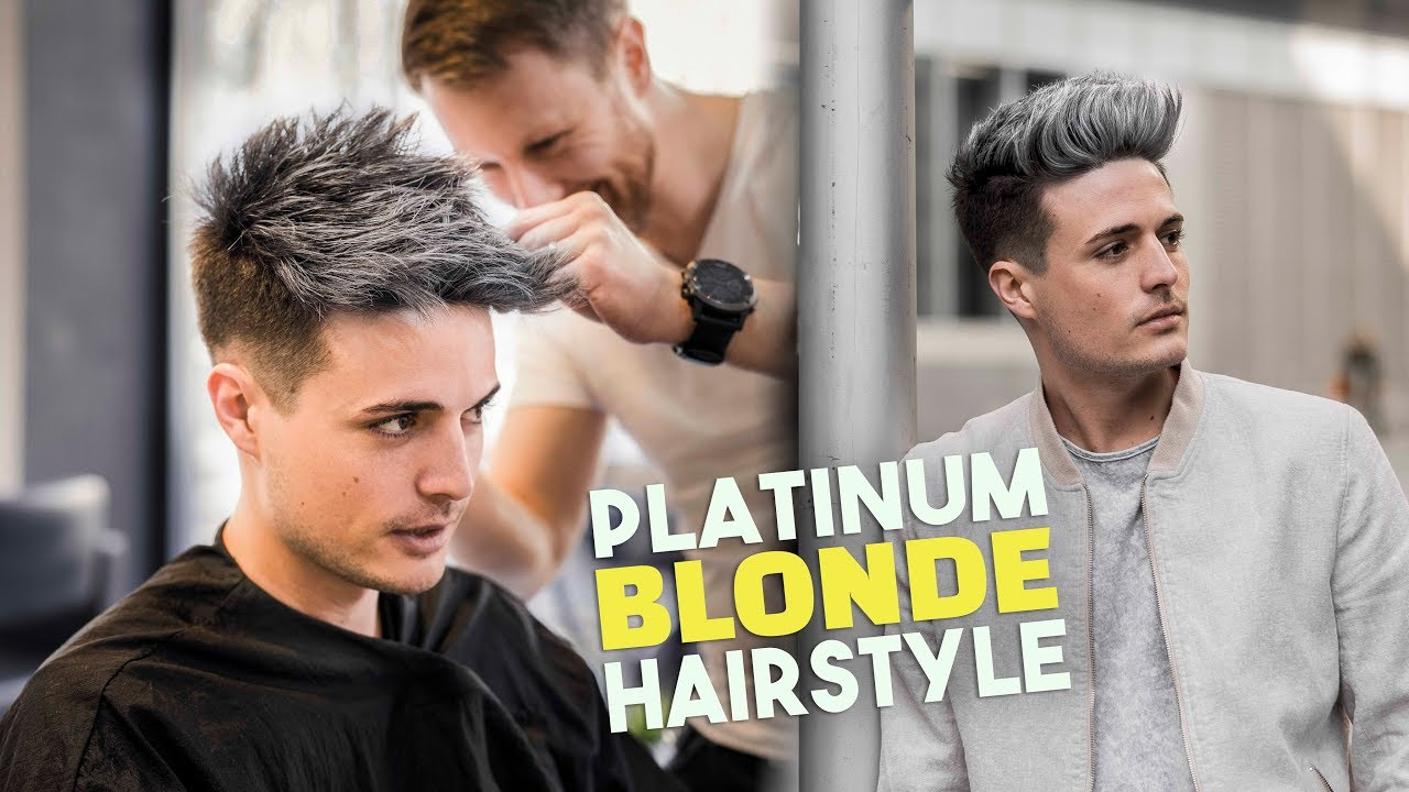 Platinum Blonde Hair Transformation Men S Hairstyle Tutorial Blumaan 2018