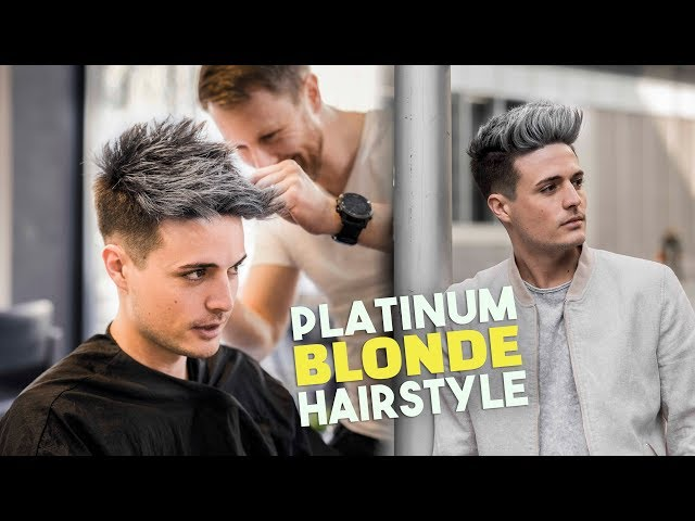 Platinum Blonde Hair TRANSFORMATION | Mens Hairstyle Tutorial | BluMaan 2018
