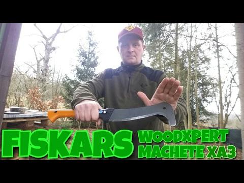✔FISKARS XA3 WOODEXPERT Machete Review (German)