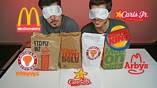 GÖZÜ KAPALI HAMBURGER TESTİ!!! | McDonalds, Burger King, Arbys