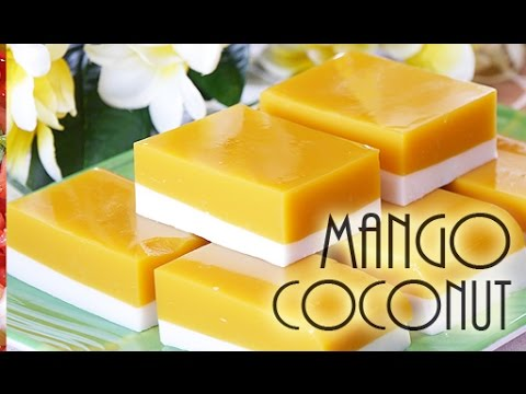 Mango Coconut Agar Agar Dessert-(RECIPE)ココナツ・マンゴーゼリーは美味しかった! from YouTube · Duration:  3 minutes 46 seconds  · 137.000+ views · uploaded on 26-7-2015 · uploaded by TabiEats