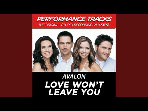 Love Won't Leave You (Performance Track In Key Of C Without Background Vocals)