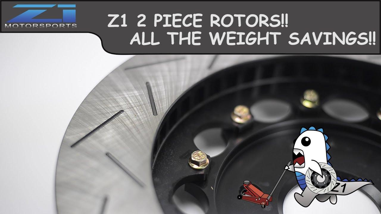 Z1 Motorsports - 2 Piece Rotors - Akebono - Brembo