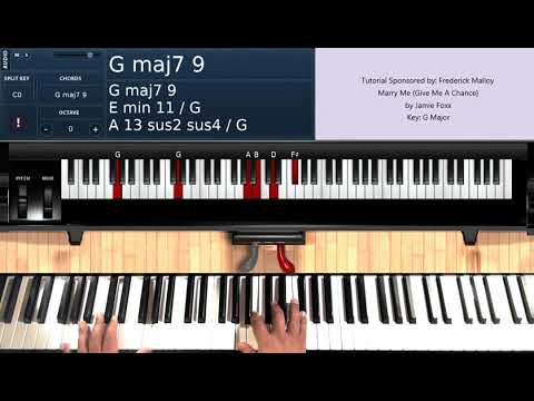 Marry Me (Give Me A Chance) By Jamie Foxx - Piano Tutorial