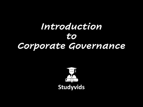 N0509E  Intro to Corporate Governance